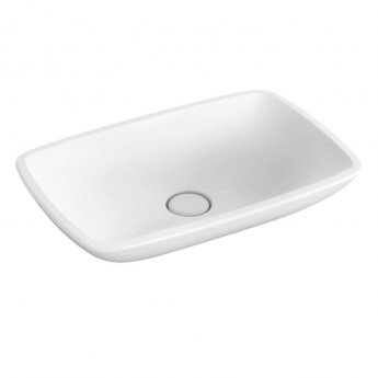 Signature Allure Flat Sit-On Countertop Basin 600mm Wide - 0 Tap Hole