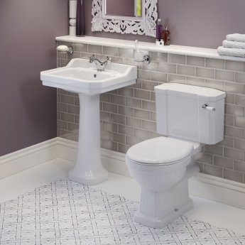 Signature Aphrodite Basin and Full Pedestal 600mm Wide - 1 Tap Hole
