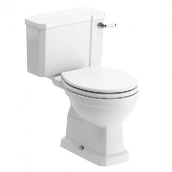 Signature Aphrodite Close Coupled Toilet with Cistern - Soft Close Seat