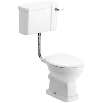 Signature Aphrodite Low Level Toilet with Cistern - Soft Close Seat