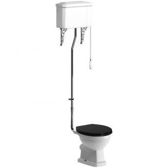 Signature Aphrodite High Level Toilet with Pull Chain Cistern - Indigo Ash Soft Close Seat
