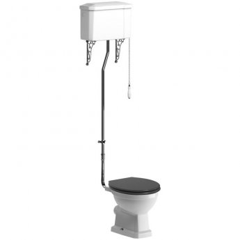 Signature Aphrodite High Level Toilet with Cistern - Grey Ash Soft Close Seat