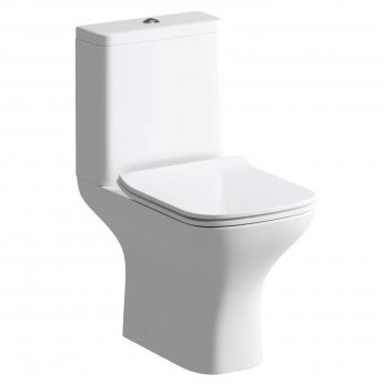 Signature Aztec Close Coupled Toilet with Cistern - Slimline Soft Close Seat