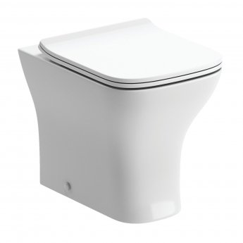Signature Aztec Back To Wall Toilet 360mm Wide - Soft Close Slimline Seat