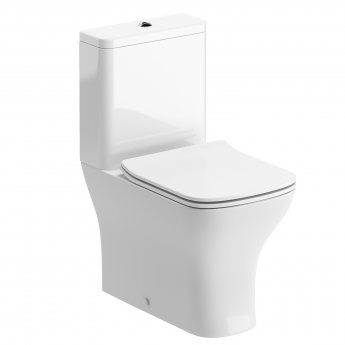 Signature Aztec Close Coupled Toilet with Cistern - Soft Close Seat