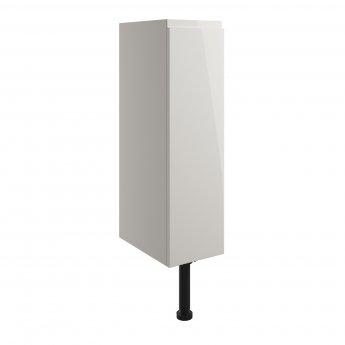 Signature Bergen Floor Standing 1-Door Toilet Roll Unit 200mm Wide - Pearl Grey Gloss