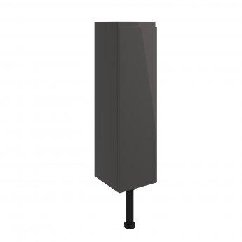 Signature Bergen Floor Standing 1-Door Slim Base Unit 200mm Wide - Onyx Grey Gloss