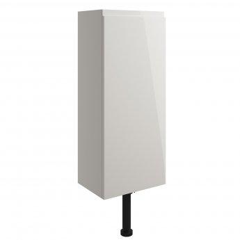 Signature Bergen Floor Standing 1-Door Slim Base Unit 300mm Wide - Pearl Grey Gloss