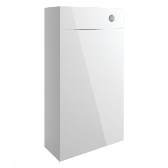 Signature Bergen Slim Back to Wall WC Toilet Unit 500mm Wide - White Gloss