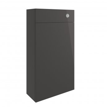 Signature Bergen Slim Back to Wall WC Toilet Unit 500mm Wide - Onyx Grey Gloss