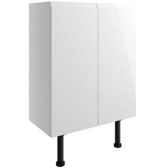 Signature Bergen Floor Standing 2-Door Base Unit 600mm Wide - White Gloss
