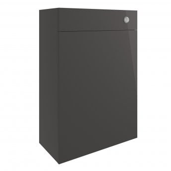 Signature Bergen Back to Wall WC Toilet Unit 600mm Wide - Onyx Grey Gloss