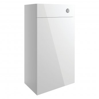 Signature Bergen Slim Back to Wall WC Toilet Unit 600mm Wide - White Gloss