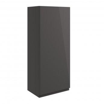 Signature Bergen Wall Hung 1-Door Storage Unit 300mm Wide - Onyx Grey Gloss