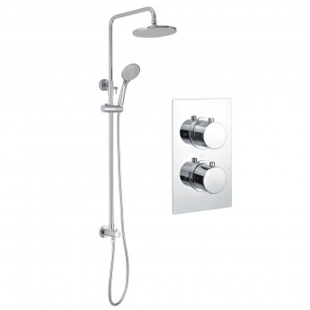 Signature Circa Dual Concealed Mixer Shower with Shower Kit and Fixed Head - Chrome