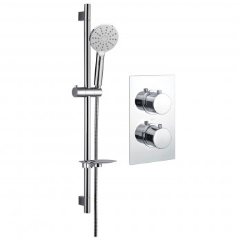 Signature Circa Dual Concealed Mixer Shower with Shower Kit - Chrome