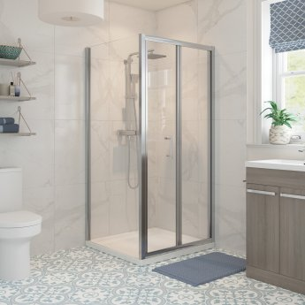 Signature Classix Bi-Fold Shower Door 900mm Wide - 5mm Glass