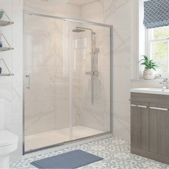 Signature Classix Sliding Shower Door 1400mm Wide - 6mm Glass