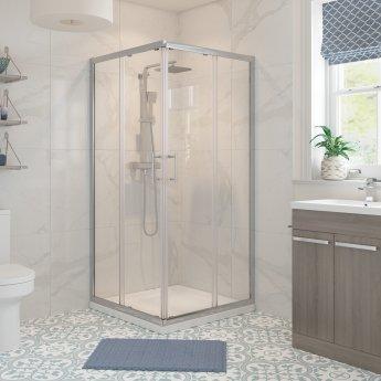 Signature Classix Corner Entry Sliding Shower Enclosure 760mm x 760mm - 6mm Glass