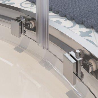 Signature Classix Double Door Offset Quadrant Shower Enclosure 1200mm x 900mm - 6mm Glass