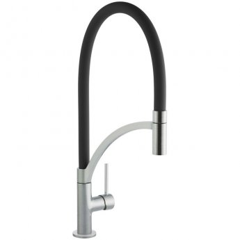 Signature Swan Neck Pull Out Single Lever Kitchen Sink Mixer Tap - Black