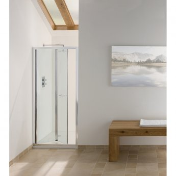 Signature Contract Bi-Fold Shower Door 1830mm H x 800mm W - 6mm Glass
