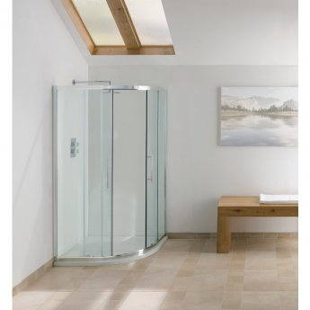 Signature Contract Offset Quadrant Shower Enclosure 900mm x 800mm - 6mm Glass