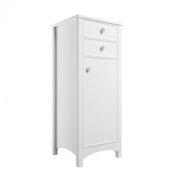 Signature Copenhagen Floor Standing 1-Door and 2-Drawer Tall Boy Unit 465mm Wide - Satin White Ash