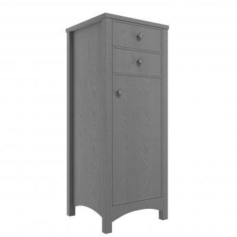 Signature Copenhagen Floor Standing 1-Door and 2-Drawer Tall Boy Unit 465mm Wide - Grey Ash