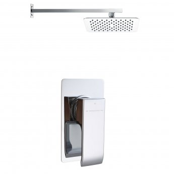 Signature Cubic Single Lever Concealed Mixer Shower with Fixed Head - Chrome
