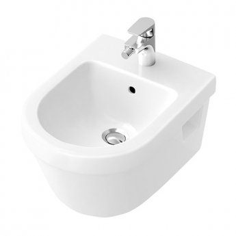 Signature D-Style Wall Hung Bidet 370mm Wide 1 Tap Hole