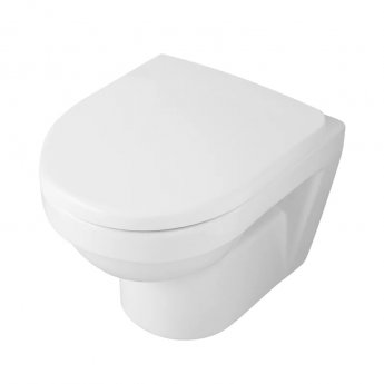 Signature D-Style Compact Wall Hung WC Pan 480mm Projection