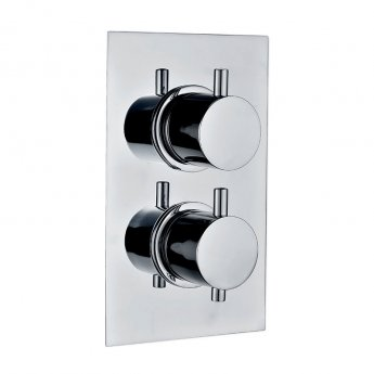 Signature Emotion Round Thermostatic Concealed Shower Valve Dual Outlet - Chrome