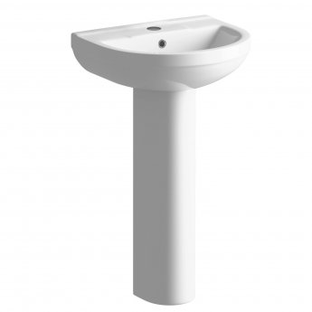 Signature Inca Basin and Full Pedestal 500mm Wide 1 Tap Hole