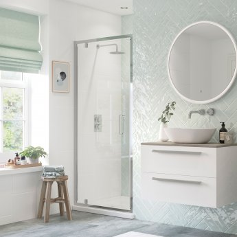 Signature Inca6 Pivot Shower Door 800mm Wide - 6mm Glass