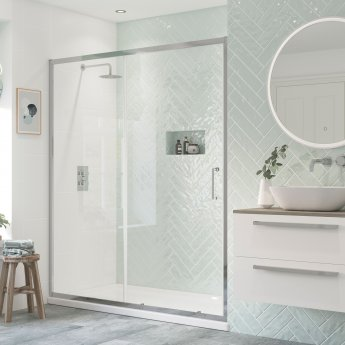Signature Inca6 Sliding Shower Door 1100mm Wide - 8mm Glass