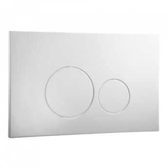 Signature Easi-Plan ISO 2 Dual Flush Plate - Satin