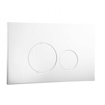 Signature Easi-Plan ISO 2 Dual Flush Plate - White