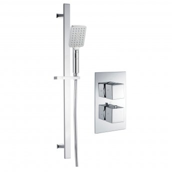 Signature Kuba Dual Concealed Mixer Shower with Shower Kit - Chrome