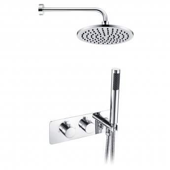 Signature Lexi Twin Concealed Mixer Shower with Handset and Fixed Head - Chrome