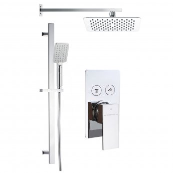 Signature Lotti Single Concealed Mixer Shower with Shower Kit and Fixed Head - Chrome
