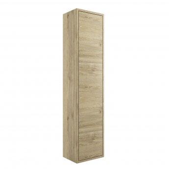 Signature Lund Wall Hung 1-Door Tall Unit 300mm Wide - Havana Oak