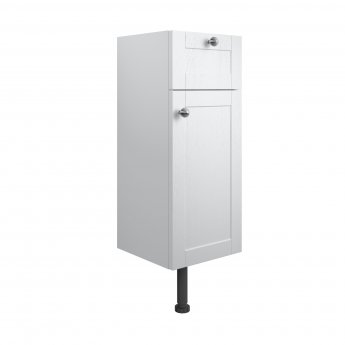 Signature Malmo Floor Standing 1-Door and 1-Drawer Base Unit 300mm Wide - Satin White Ash