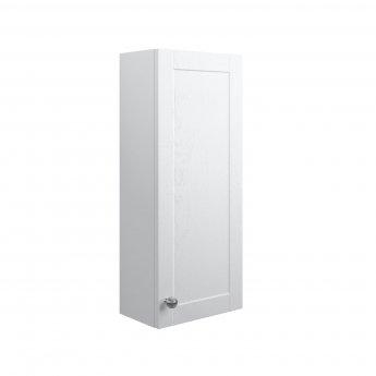Signature Malmo Wall Hung 1-Door Storage Unit 300mm Wide - Satin White Ash