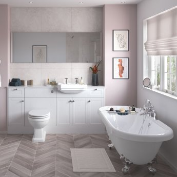 Signature Malmo Back to Wall WC Toilet Unit 600mm Wide - Satin White Ash