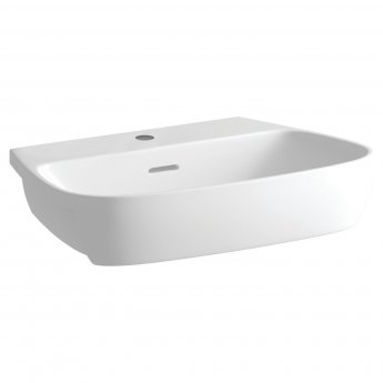 Signature Maya Semi-Recessed Basin 605mm Wide 1 Tap Hole
