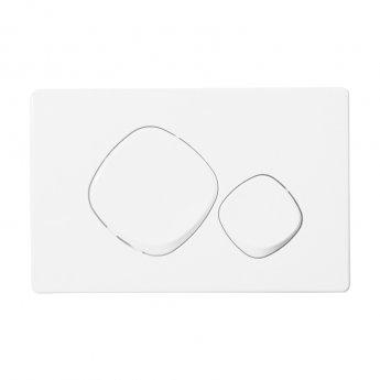Signature Easi-Plan Mode Dual Flush Plate - White