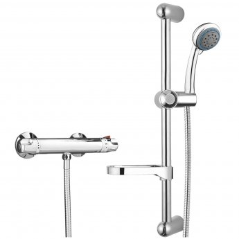 Signature Low Pressure Thermostatic Bar Mixer Shower with Shower Kit - Chrome