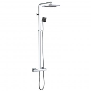 Signature Square Bar Mixer Shower with Shower Kit + Fixed Head - Chrome