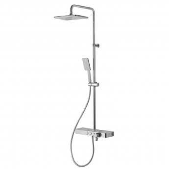 Signature Thermostatic Complete Mixer Shower with Integrated Shelf - White/Chrome